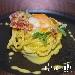 Chiancheria Gourmet Roma - Spaghetto arrostito con spuma d_uovo bio e Guanciale Croccante - - - Fotografia inserita il giorno 13-02-2019 alle ore 21:54:42 da luigi