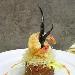 Croccante di gambero mazara su caponata di melanzane leggermente gelatinata - - - Fotografia inserita il giorno 20-05-2006 alle ore 18:53:34 da maxmangano