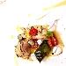 Fegatini al Campari, Gamberi al limone, Lardo di colonnato caramellato, Insalatina di lamponi e mirtilli e Salsa all'arancia - - - Fotografia inserita il giorno 14-06-2018 alle ore 21:13:23 da luigisorrentino