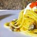 Lo spaghetto e la cernia con burrata pugliese - - - Fotografia inserita il giorno 15-01-2018 alle ore 16:19:37 da merestaurant