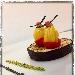 Ricetta inserita su spaghettitaliani.com da Antonino Di Carlo: Coppia di anelli di spaghetto allo zafferano e pistacchi in coppe di ciliegino e melanzane