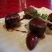 Ricetta inserita su spaghettitaliani.com da Francesco Torelli: Tonno, manzo e foie gras, mini pera al chianti, salsa al taleggio, cristallo di sale rosso delle Hawaii