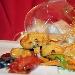 La Ricetta del giorno del 30/01/2018 inserita su spaghettitaliani.com da Giuseppe Bondì: Baccalà in tempura  di ceci aromatizzata con mentuccia e scalogno su ratatouille di verdure croccanti in cristallo d