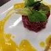-Tartare di Tonno rosso Belfegò con crema di zucca e polvere di liquirizia - - - Fotografia inserita il giorno 03-11-2013 alle ore 10:25:13 da michelemauri