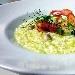 Ricetta inserita su spaghettitaliani.com da Mirco Di Trizio: Risotto con porro, vongole al finocchietto selvatico e gamberoni