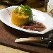 Ricetta inserita su spaghettitaliani.com da Pino Farina: Sformatino di zucca rossa con salsa d'uva nera