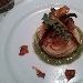 Spaghetti di Gragnano con melanzana nera nostrana, concassè di pomodoro fresco e totani, su pesto di finocchietto, scalogno, e noci
